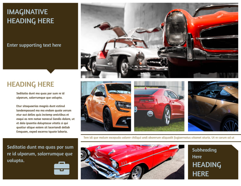 Elegant Car Show Brochure Template Preview 3