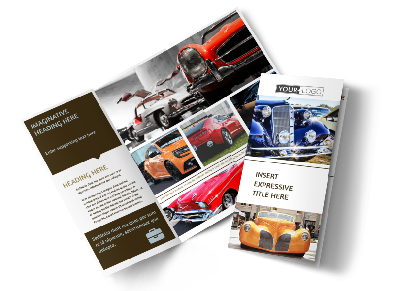 Elegant Car Show Brochure Template Preview 1