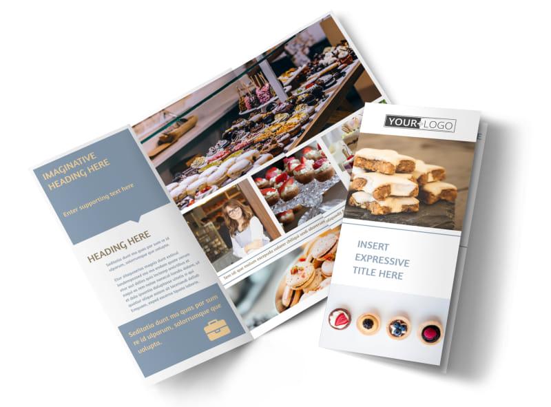 Fine Pastry Shop Tri-Fold Brochure Template