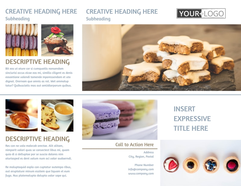 Fine Pastry Shop Brochure Template Preview 2