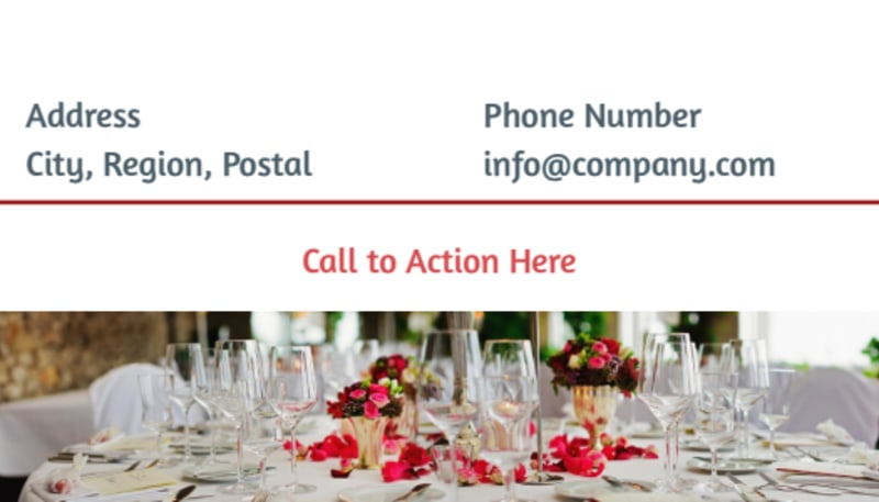 Fine Dining Restaurant Business Card Template Preview 3
