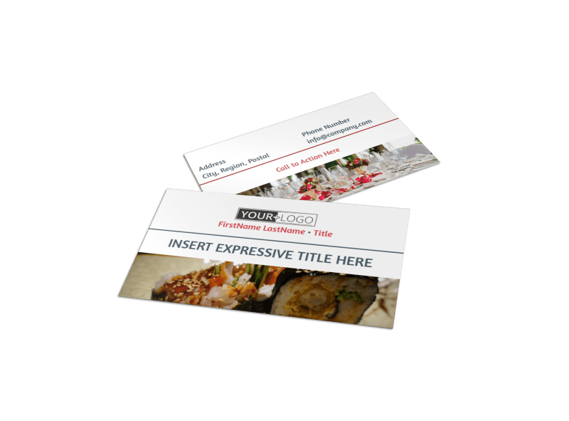 Fine Dining Restaurant Business Card Template Preview 1
