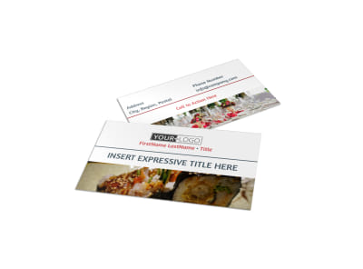 Fine Dining Restaurant Business Card Template preview