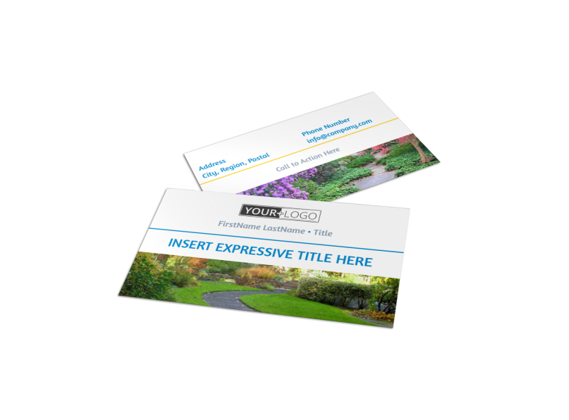 Beautiful Landscape Business Card Template Preview 1