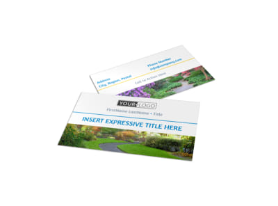 Beautiful Landscape Business Card Template preview