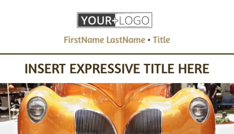 Elegant Car Show Business Card Template Preview 2
