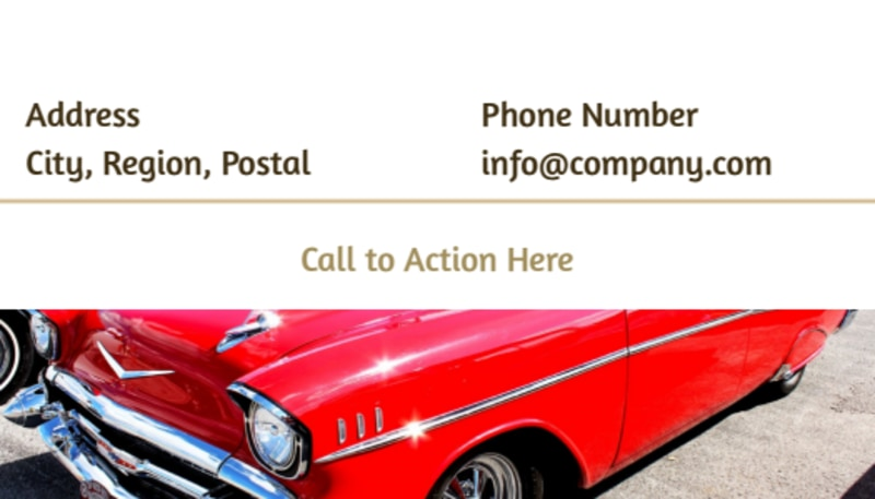 Elegant Car Show Business Card Template Preview 3