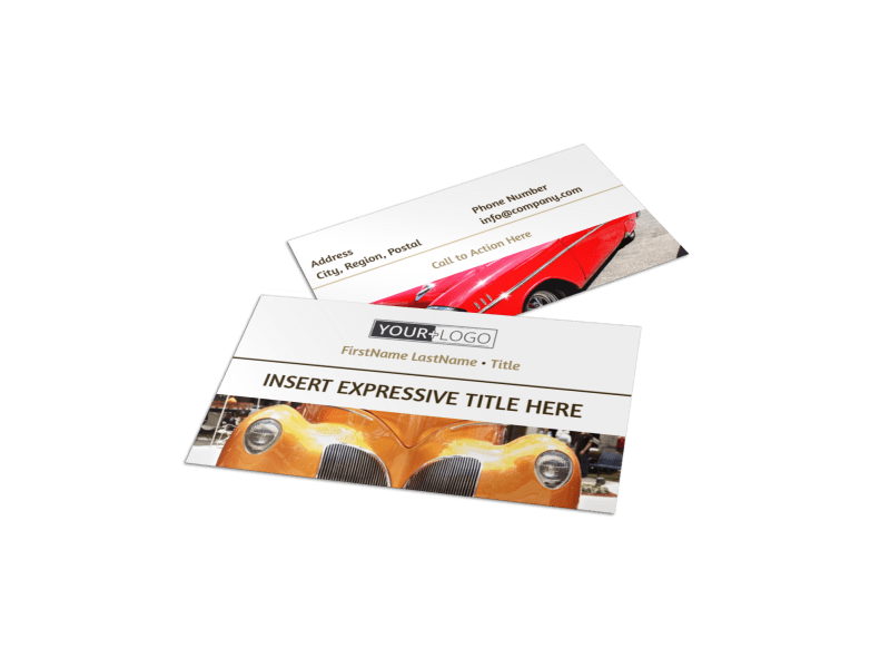 Elegant Car Show Business Card Template Preview 1