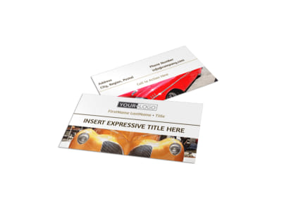 Elegant Car Show Business Card Template