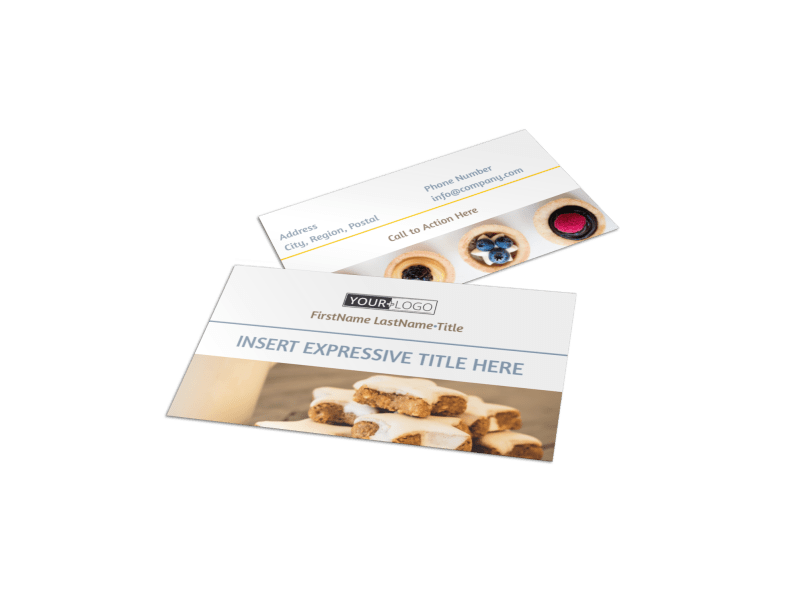 Fine Pastry Shop Business Card Template Preview 1
