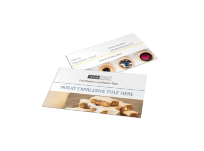 Fine Pastry Shop Business Card Template preview