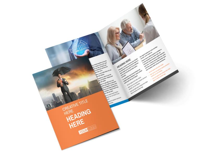 Family Insurance Agency Bi-Fold Brochure Template 2