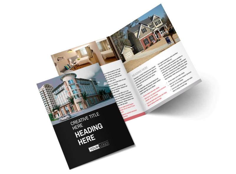 Improved Property Management Bi-Fold Brochure Template 2