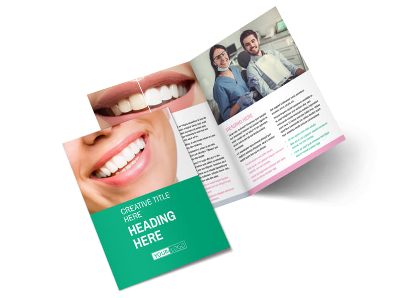 Clean Care Dental Bi-Fold Brochure Template 2