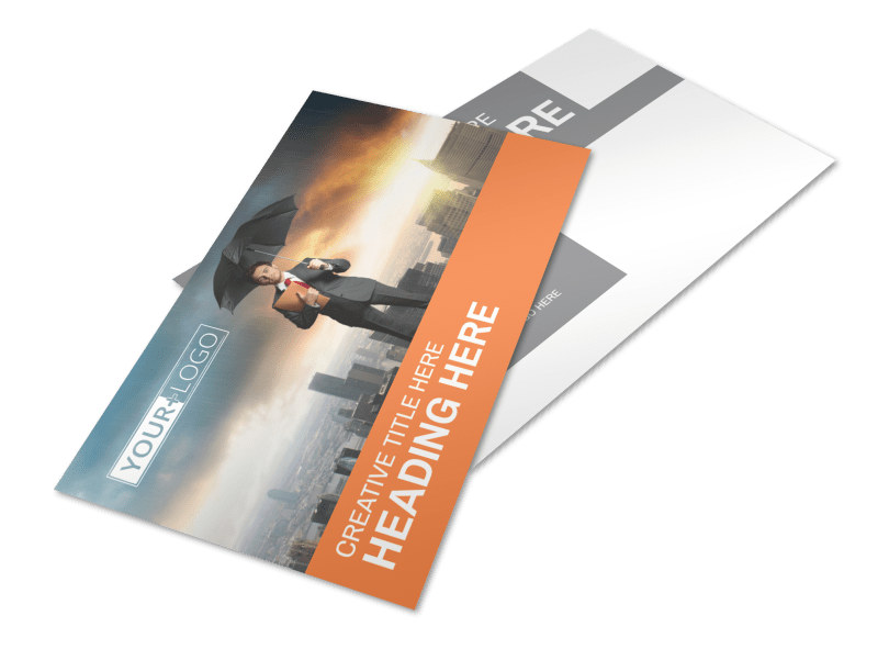 Family Insurance Agency Postcard Template 2