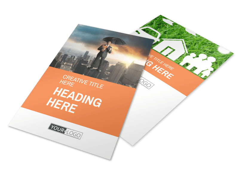 Family Insurance Agency Flyer Template 3