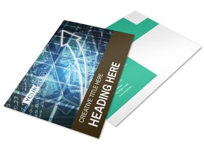 Financial Advisor Postcard Template preview