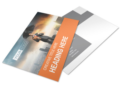 Family Insurance Agency Postcard Template preview