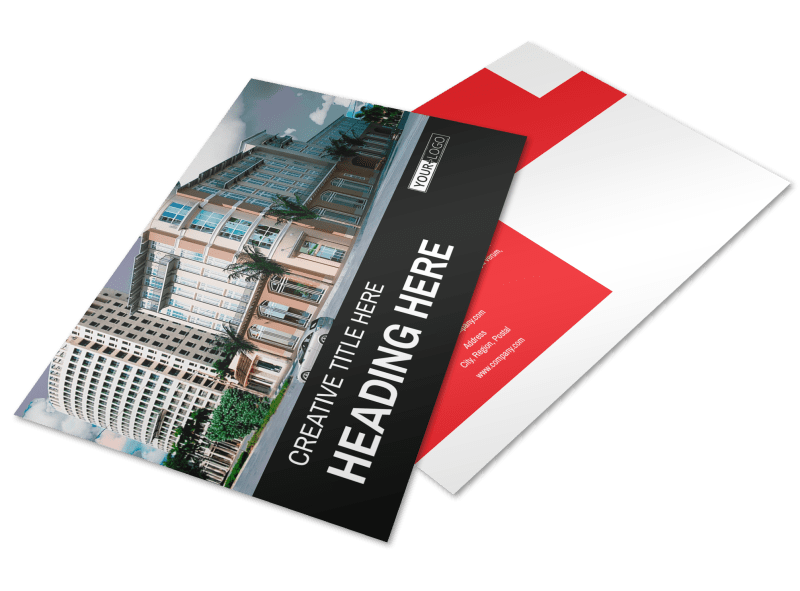 Improved Property Management Postcard Template Preview 1