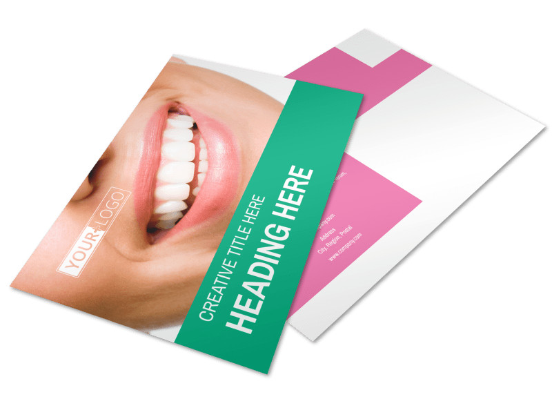 Clean Care Dental Postcard Template