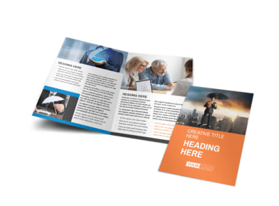 Family Insurance Agency Bi-Fold Brochure Template