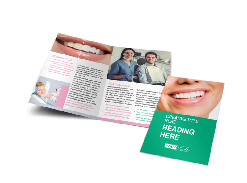 Clean Care Dental Bi-Fold Brochure Template
