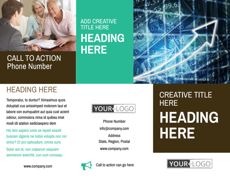 Financial Consultant Services Brochure Template Preview 2