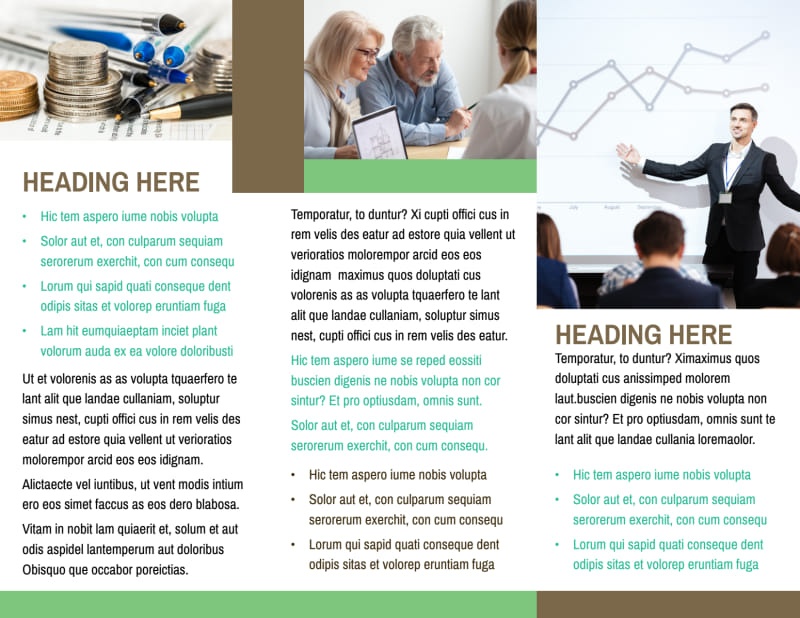 Financial Consultant Services Brochure Template Preview 3