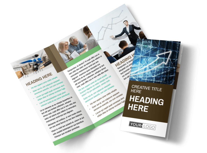 Financial Consultant Services Brochure Template Preview 1