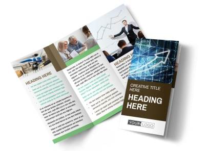 Financial Advisor Tri-Fold Brochure Template preview