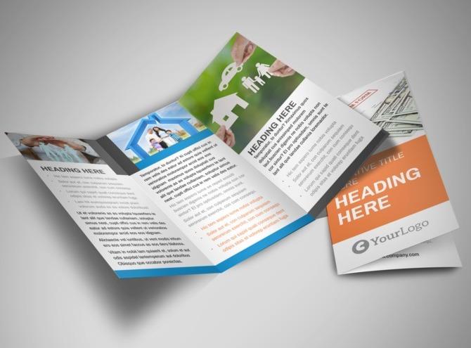 insurance brochure template - family insurance agency tri fold brochure template