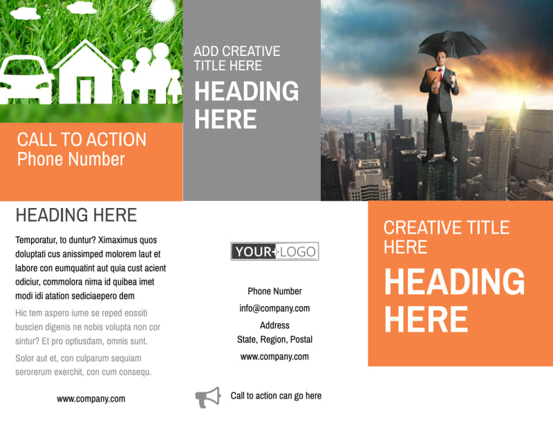 Family Insurance Agency Brochure Template Preview 2