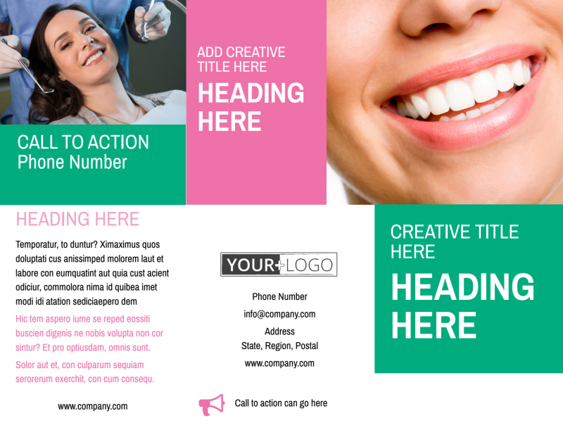 Clean Care Dental Brochure Template Preview 2