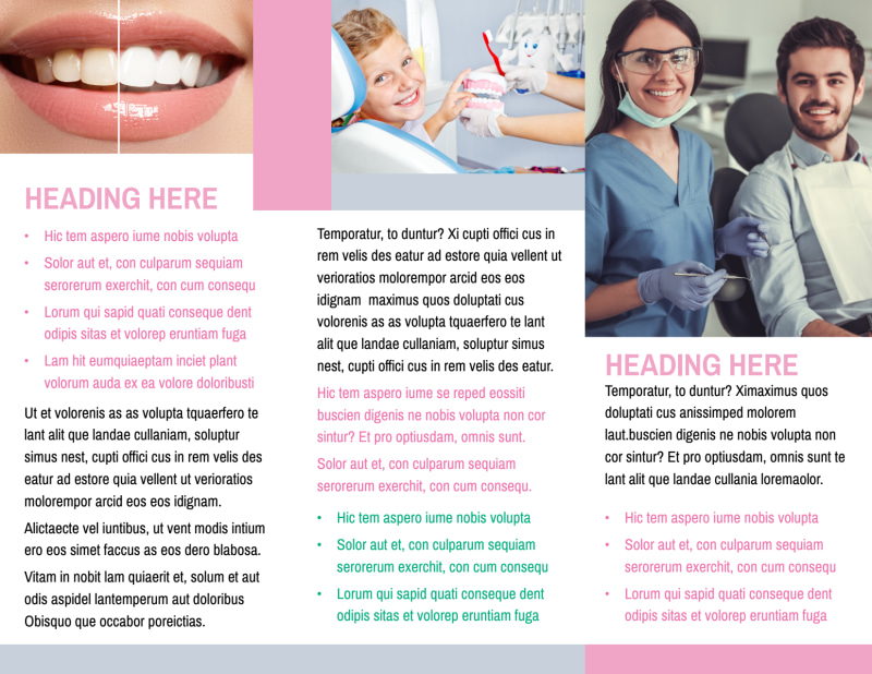 Clean Care Dental Brochure Template Preview 3