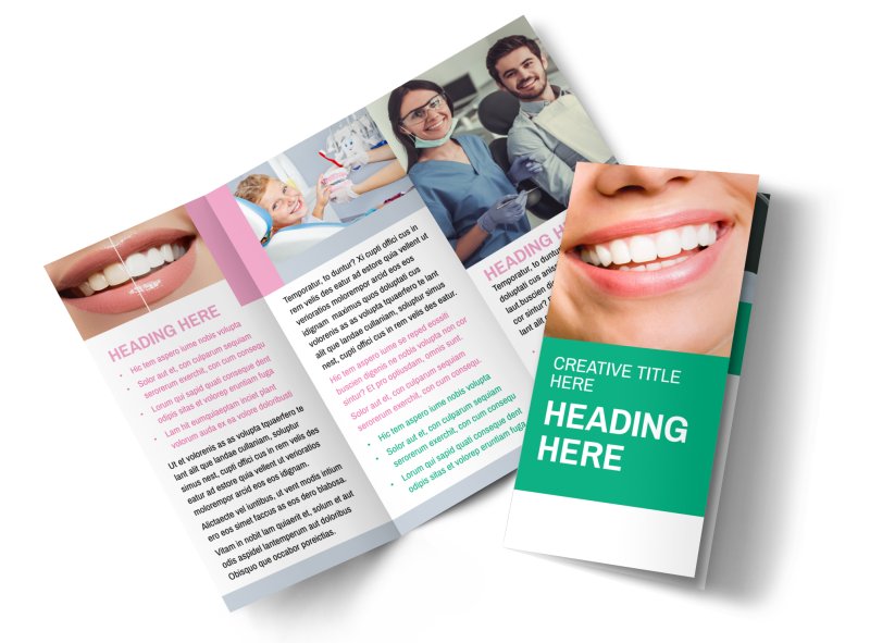 Clean Care Dental Brochure Template Preview 1