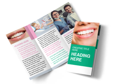 Clean Care Dental Tri-Fold Brochure Template