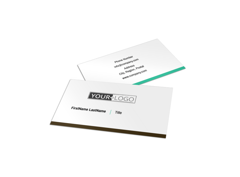 Financial Consultant Services Business Card Template Preview 1