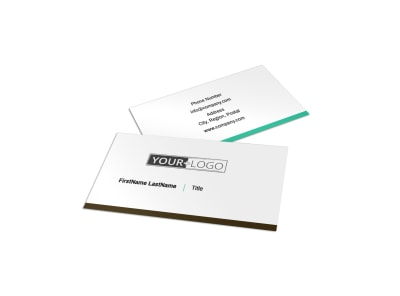 Financial Advisor Business Card Template preview