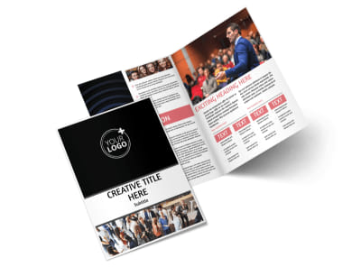 Office Event Photography Bi-Fold Brochure Template 2