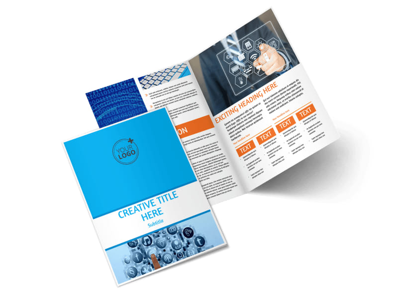 Website Service Options Bi-Fold Brochure Template 2