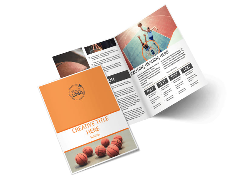 Basketball Camp Brochure Template MyCreativeShop - Fold brochure template