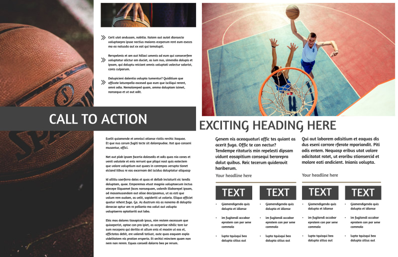 Basketball Camp Brochure Template Preview 3
