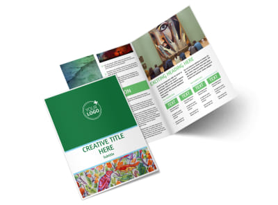 Art Exhibition Bi-Fold Brochure Template 2