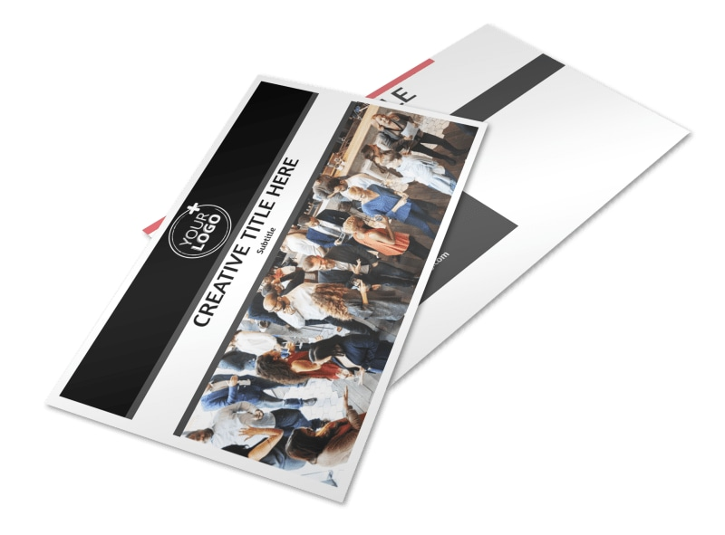 Office Event Photography Postcard Template 2