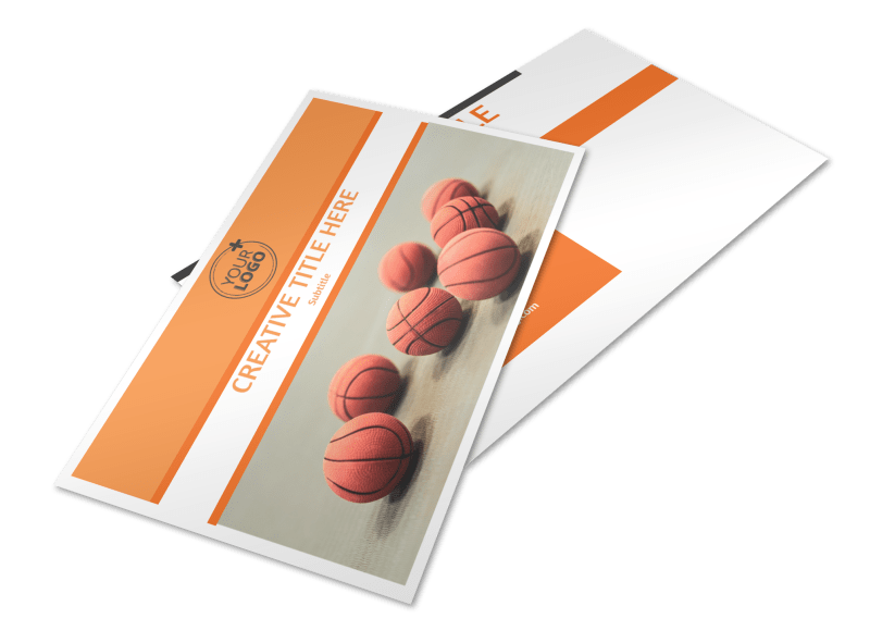 Basketball Camp Postcard Template Preview 1