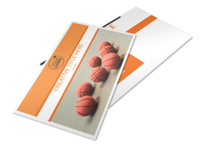 Basketball Camp Postcard Template 2