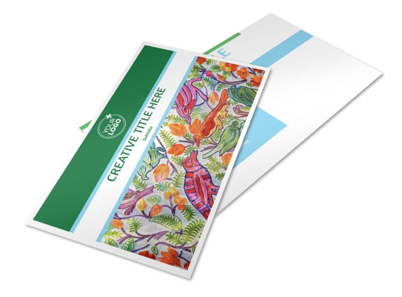 Art Exhibition Postcard Template 2