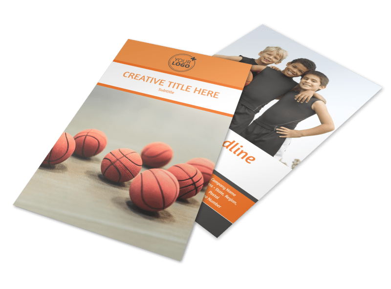 Basketball Camp Flyer Template Preview 1