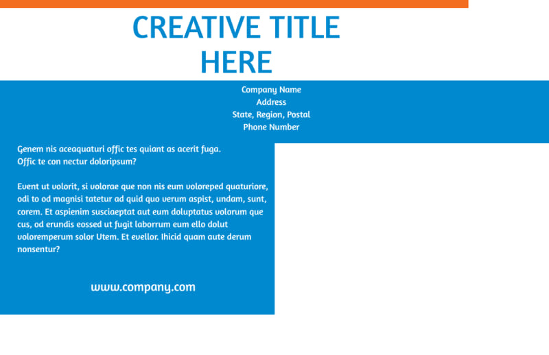 Website Service Options Postcard Template Preview 3