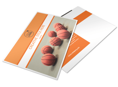 Basketball Postcard Templates Template Preview